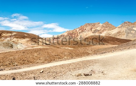 Mountains in Death Valley - California - stock photo