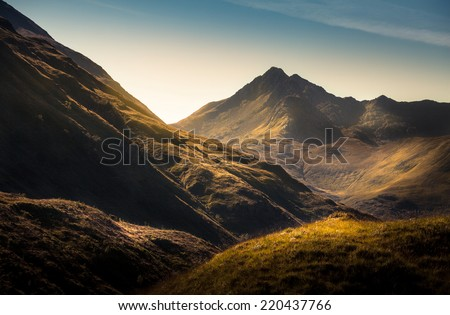 Mountains in Highland,Scotland - stock photo