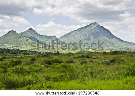 Mountains in Malawi - stock photo