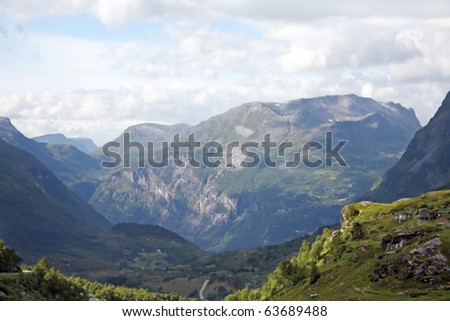 mountains in Norway - stock photo