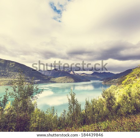 mountains lake - stock photo
