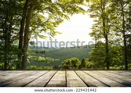 Mountains landscape. Beauty nature background - stock photo