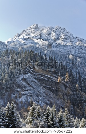 Mountains lighted by the sun like a picture - stock photo