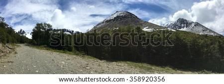 Mountains near Ushuaia, Argentina - stock photo