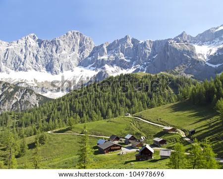 mountains of austria - stock photo
