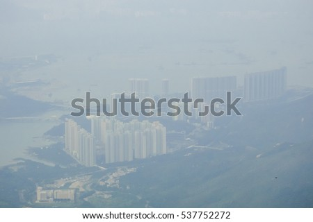 Mountains of Hong Kong. Island of Lantau