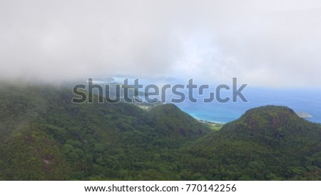 Mountains of Mahe' aerial view - Seychelles.
