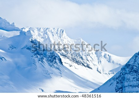 Mountains of Norway - stock photo