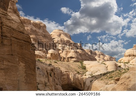 Mountains of Petra, Jordan, Middle East  - stock photo