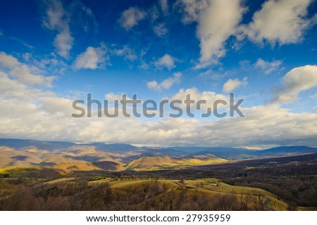 Mountains of West Virginia - stock photo