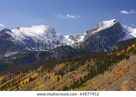 Mountains, Rocky Mountain National Park - stock photo