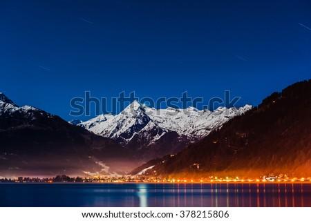 Mountains ski resort Zell am See Austria. - stock photo