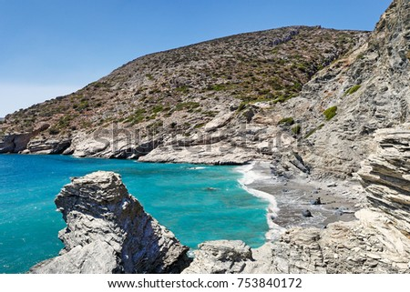 Mouros beach of Amorgos island in Cyclades, Greece