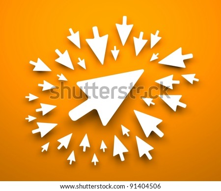Mouse cursor background - stock photo