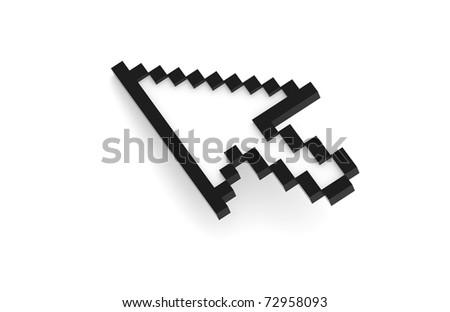 Mouse Cursor, Black - stock photo