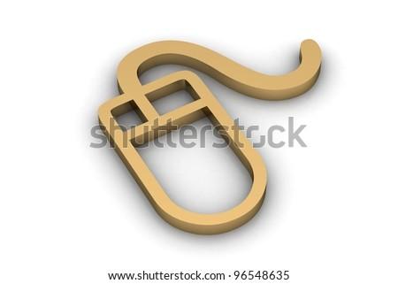 Mouse icon - stock photo