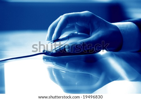 mouse work - stock photo