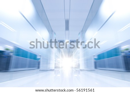 move in office Corridor - stock photo