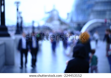 Movement of people in the big city. Abstract photo for background  - stock photo