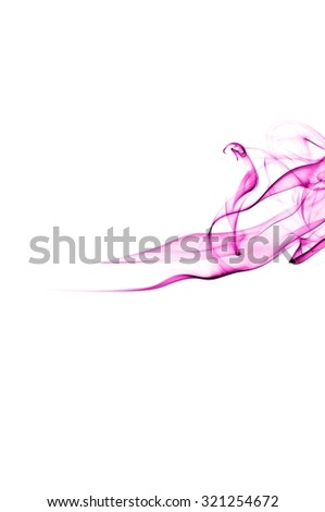 movement of smoke, Abstract Violet smoke on white background, Violet background,Violet ink background,purple smoke,beautiful color smoke - stock photo