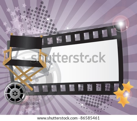 Movie background with place for text, raster - stock photo