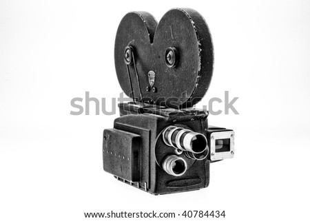 Movie Camera - stock photo