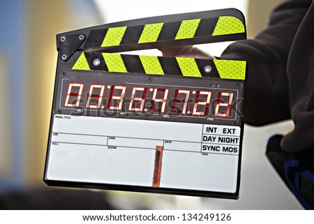 movie clapboard - stock photo