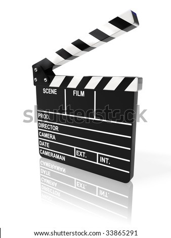 Movie clapper board - stock photo