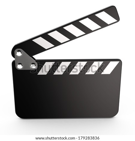 Movie clapper board, 3d - stock photo