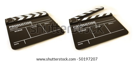 movie clapperboard - stock photo