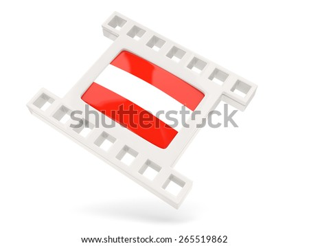Movie icon with flag of austria isolated on white