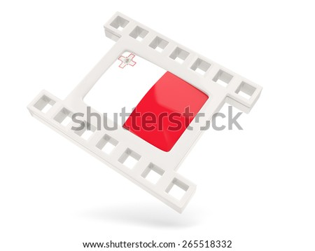 Movie icon with flag of malta isolated on white