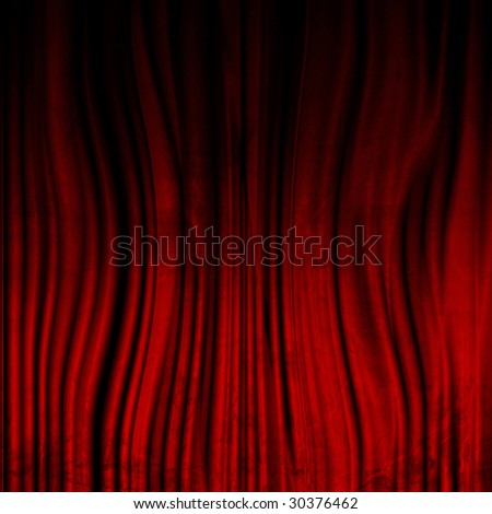 Movie or theater curtain with soft shades on it