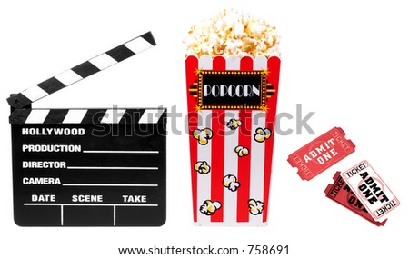 Movie Related Items - stock photo