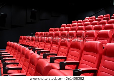 movie theater empty auditorium with seats