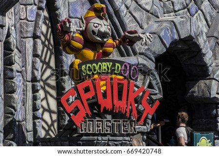 MOVIEWORLD, GOLD COAST,AUSTRALIA-23rd APRIL 2016:-Movieworld on the Gold coast is an Iconic theme park in Australia