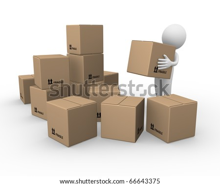 Moving - stock photo