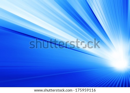 Moving escalator in modern building and light on background. - stock photo