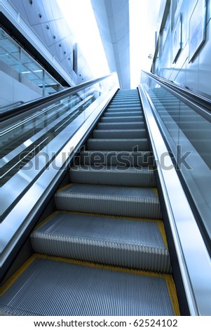 Moving escalator to the heaven concept - stock photo