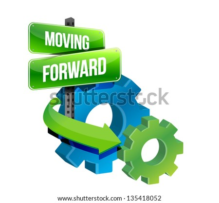 moving forward illustration design over a white background - stock photo