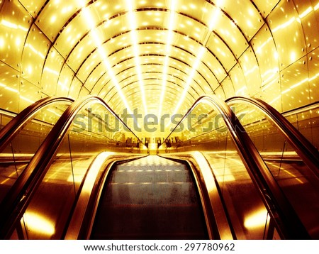Moving stairs.  - stock photo