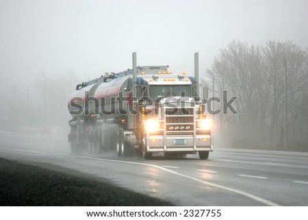 moving the oil - stock photo