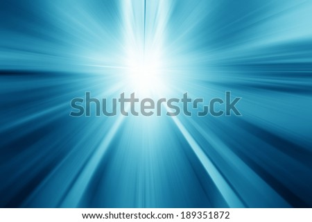 Moving walkway and light in modern building. Motion blur. - stock photo
