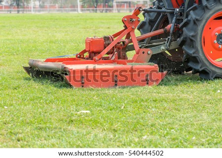 mowing the lawn ,Cut green grass