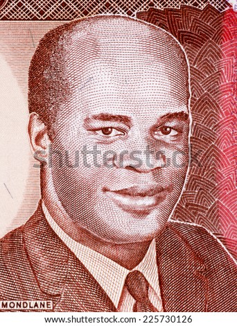 MOZAMBIQUE - CIRCA 1991: Eduardo Mondlane on 1000 Meticais 1991 Banknote from Mozambique. President of Mozambique during 1962-1969.