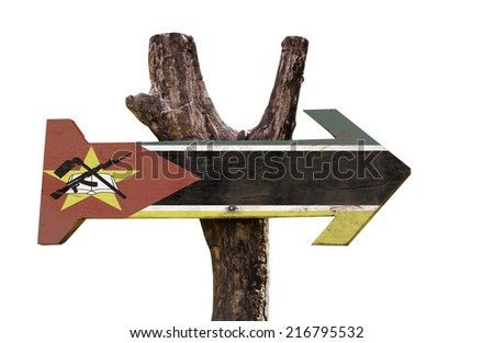 Mozambique sign isolated on white background - stock photo