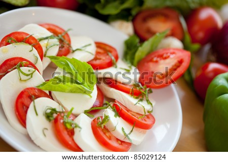 Mozzarella and Tomato 5 - stock photo