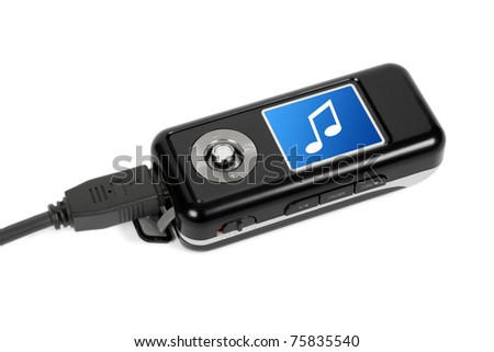 Mp3 player - isolated on white background - stock photo