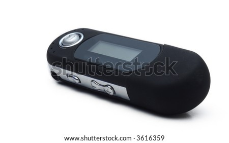 mp3 player on white background - stock photo