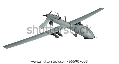MQ 1C Gray Eagle Military Drone Actual US Army Livery Isolated 3d Render